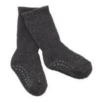 Go Baby Go - non slip socks Baumwolle - Dark Grey Melange - 1-2Y